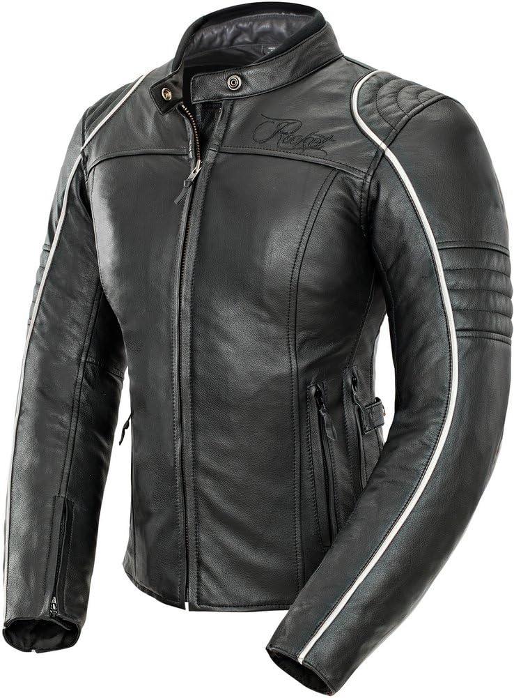 Black//Red, X-Small Joe Rocket Womens Lira Leather Jacket