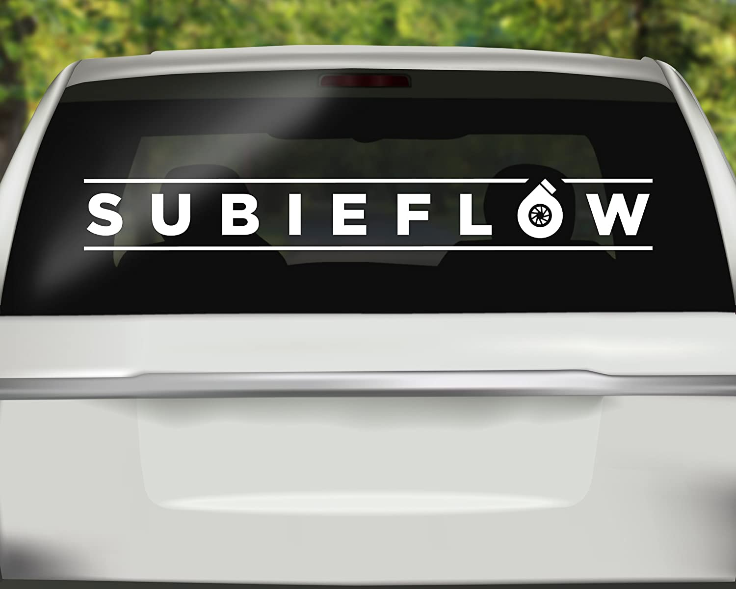 Subieflow JDM Vinyl Sticker Cut-Out Vinyl Decal for vehicle window or bumper