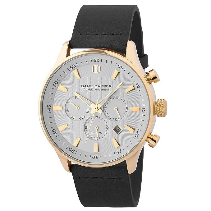 Dane Dapper Reloj negro, blanco y dorado Troika: Amazon.es: Ropa y accesorios