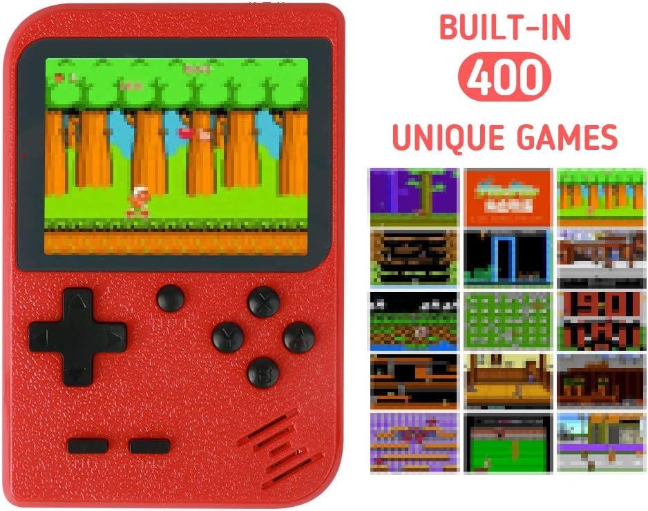 Amazon.es: NIERBO Mini Consola de Juegos Retro Portátil, 400 NES FC Juegos Retro Pantalla LCD de 3 Pulgadas 800mAh Batería Recargable Admite Conexión de TV