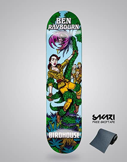 Amazon.com   lordofbrands Birdhause Mexipulp Ben Raybourn 8.25 monopatin  Skate Skateboard Deck   Sports   Outdoors c3f7cebb937