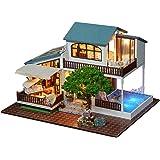 Greencolourful Cottage Bricolage Maison De Poupée En Bois Assemblé à La  Main Cadeau Du0027anniversaire