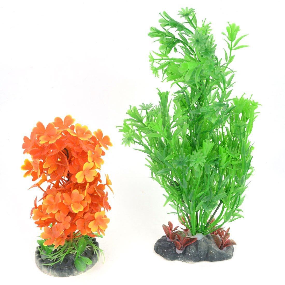 1Pc Plastic Aquarium Simulated Grass Plant Decor Green Purple