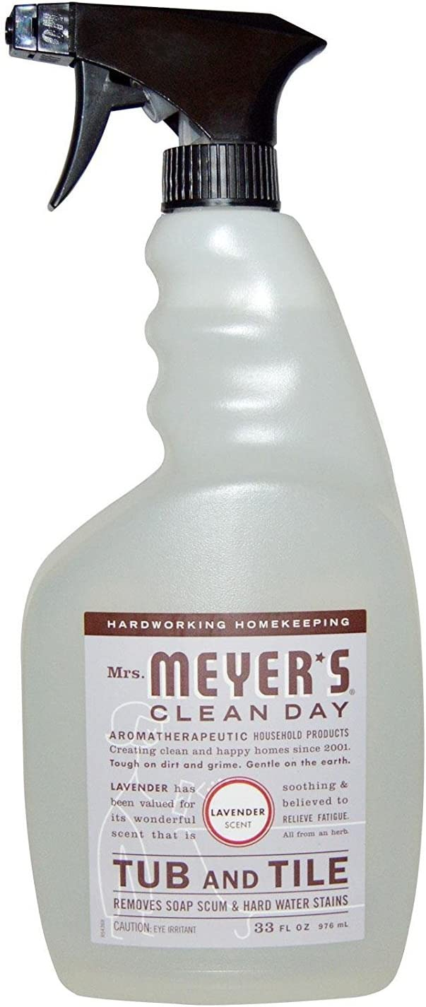 Mrs. Meyer's Clean Day Mrs. Meyer's Tub & Tile Cleaner, Lavender, 33 fl. oz. (Pack of 2), White
