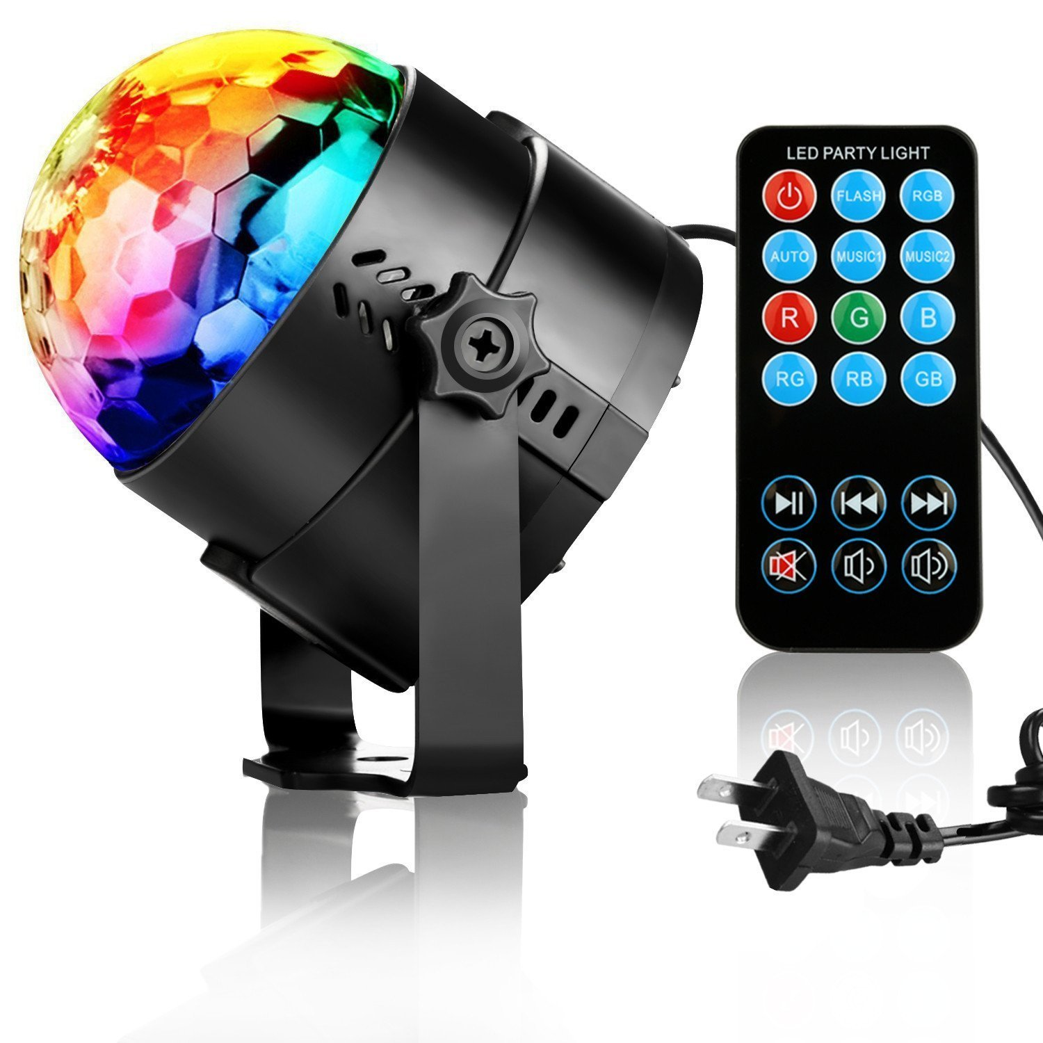 NIUBIER Disco Ball Disco Lights Party Lights Music Activated Lightshow Kids Karaoke Disco Light LED Party Suppliers for Home Room Dance Decorations Birthday DJ Wedding Club Night Lights