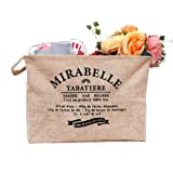 Peicees Large toy storage basket Jute Storage Bin Organizers withHandles for Kids Toys Clothing Books