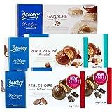 Desobry丹卓进口饼干盒装休闲零食 比利时进口饼干 办公室零食 (督雅/巧克力/椰香组合520g)