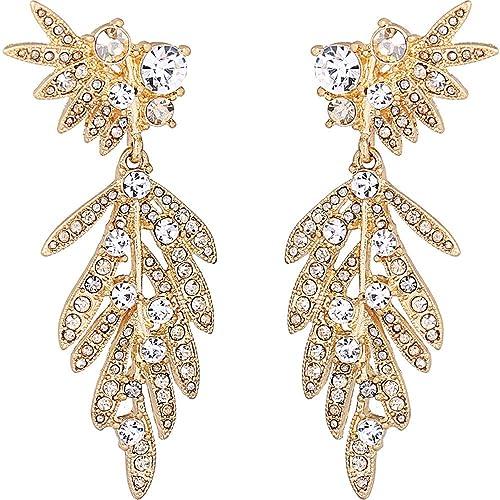 a pies en proporcionar una gran selección de renombre mundial Yiyue Señoras Moda Aretes Elegantes Aretes 925 Aretes Aretes ...