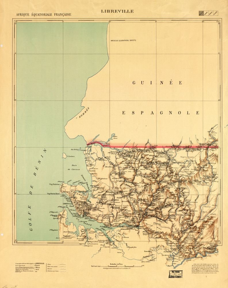 French Africa Map.Amazon Com Vintography 1910 Map Of Afrique Iquatoriale Frani Aise