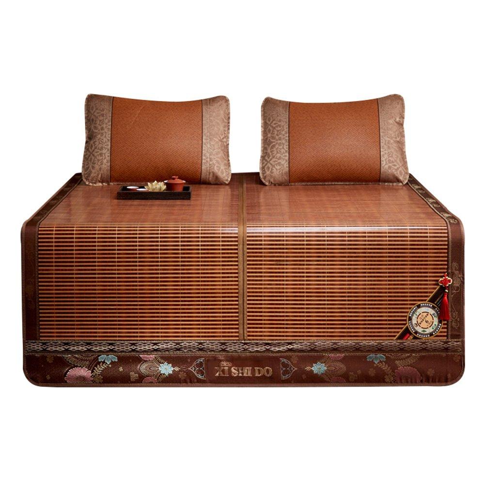 WENZHE Bambus Matratzen Sommer-Schlafmatten Strohmatte Teppiche Falten Zuhause Schlafzimmer Studentenwohnheim, 1,5/1,8 M