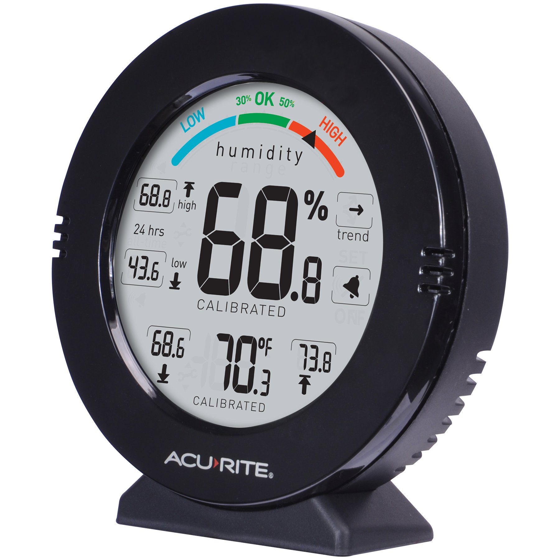 AcuRite 01080M Pro Accuracy Temperature and Humidity Gauge with Alarms, Black by AcuRite