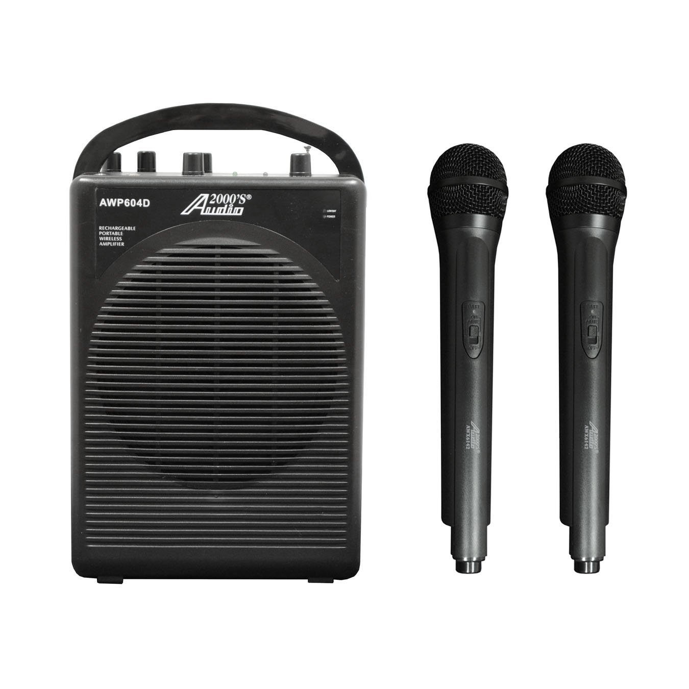 Audio 2000s Dual Channel Wireless Microphone Portable PA System AWP604D