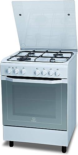 Indesit I6TMH2AF(W)/I, cocina de 60 x 60 cm con horno eléctrico, de instalación independiente, 4 fuegos de gas