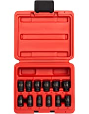 Sunex 1822 1/4-Inch Drive Magnetic Impact Socket Set Metric, 12-Piece