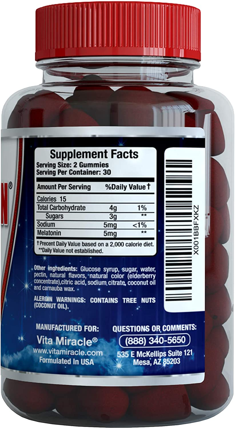 Amazon.com: Melatonin Gummies 5mg Chewable Gummy - Adults and Kids Great Tasting Instant Release Sleeping Pills Supplement Plus Works Over Time Best ...