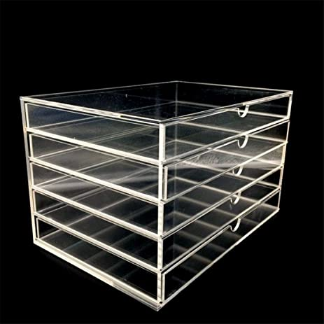 Amazoncom immiliving Acrylic Makeup Jewelry Organizer 5 draw