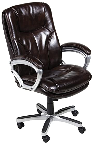 leather office chair amazon. serta 43502 faux leather big \u0026 tall executive chair, brown office chair amazon n
