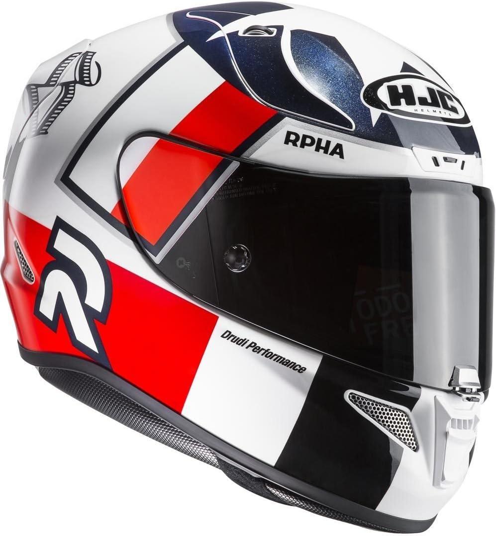 HJC 8804269210857 Motorradhelm L RPHA 11 Ben Speis MC1 Transparent//Rouge