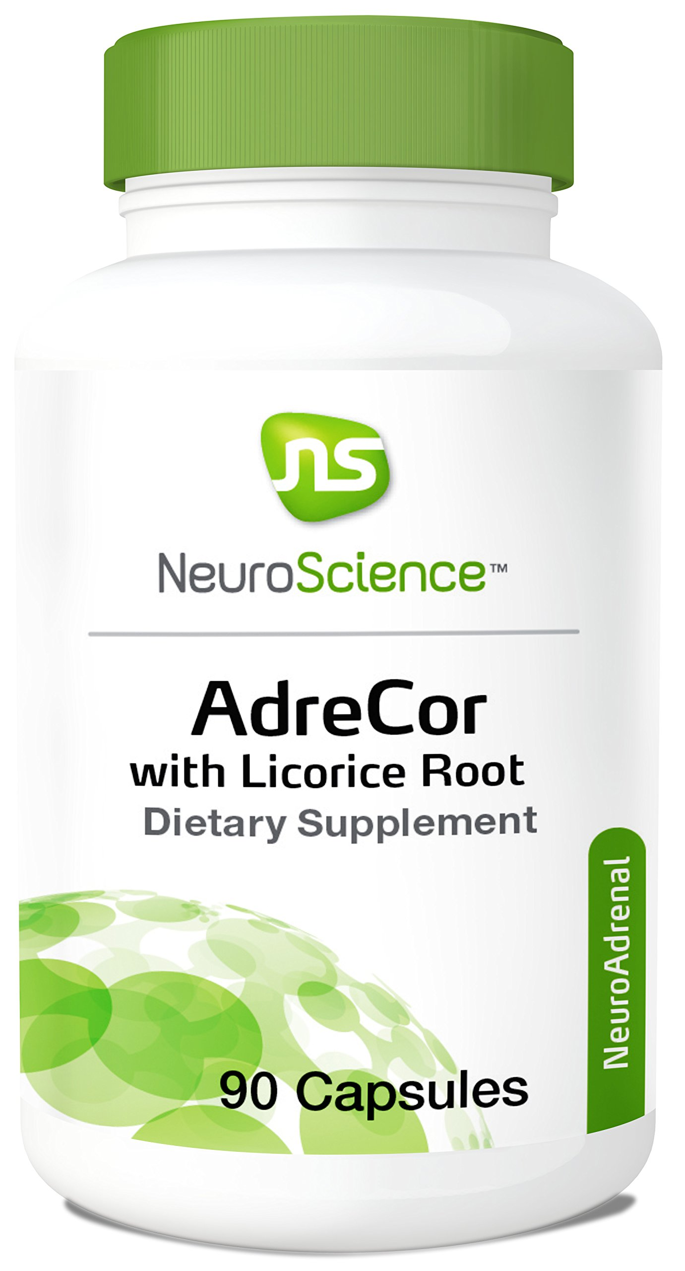 NeuroScience AdreCor with Licorice Root - Adrenal Energy Support Complex with Rhodiola + Histidine to Help Increase Cortisol and Reduce Fatigue (90 Capsules)
