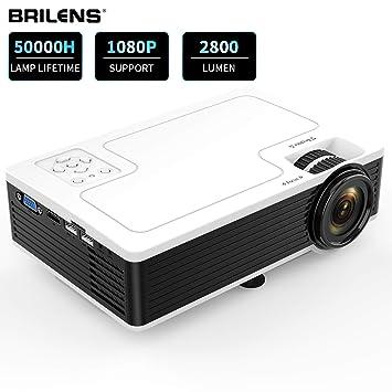 BRILENS Proyector de película Full HD 1080P Mini proyector LED ...