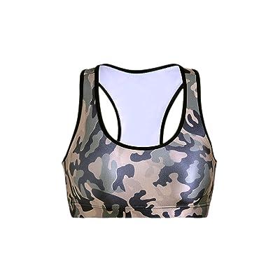 Zonsaoja Femmes Les Sous Vêtements De Camouflage PourFemmes Les Citernes Au Yoga Soutif Sport Culture