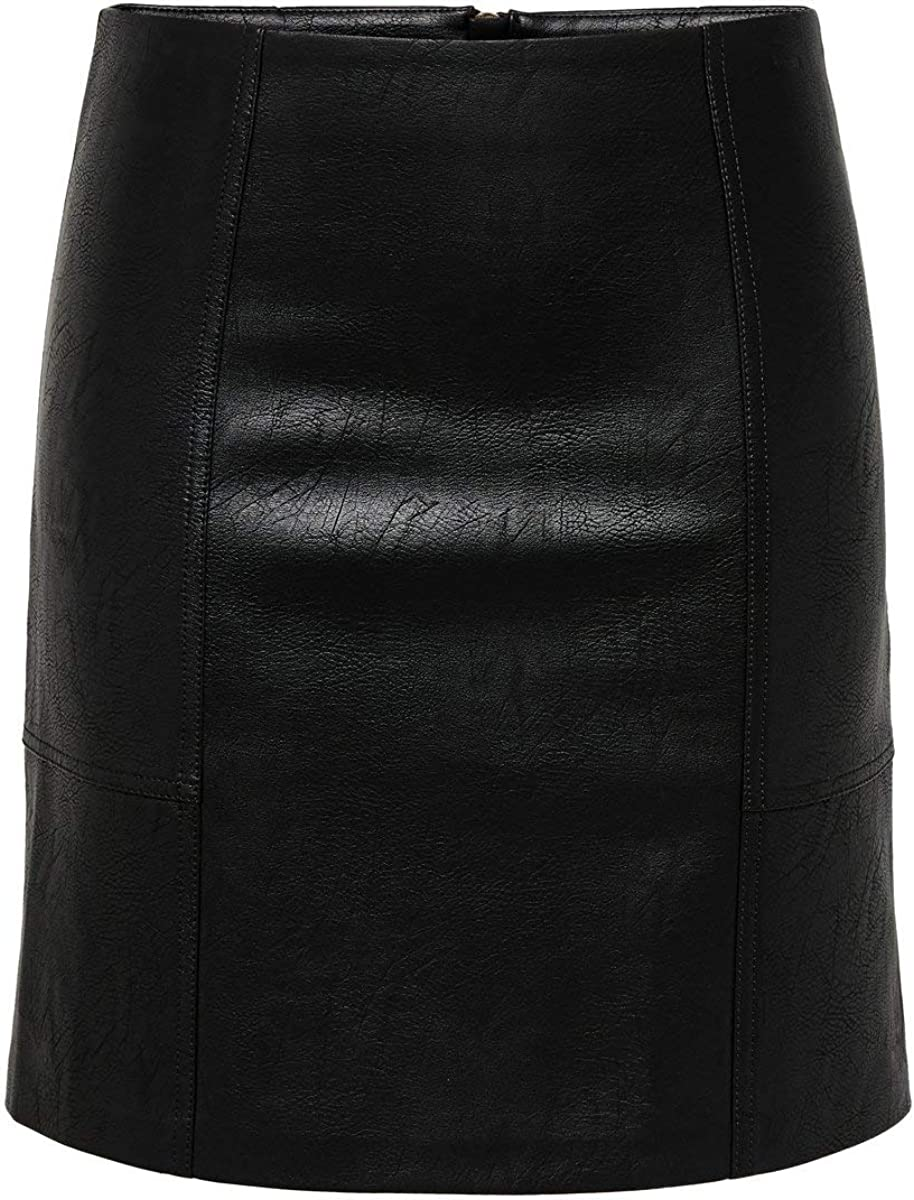 Only Onlsky Faux Leather Skirt Otw Falda para Mujer