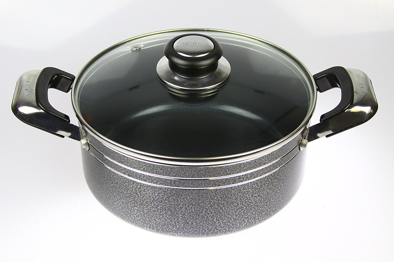 Mastercook Heavy Duty Non Stick Ceramic Coated Casserole With Glass Lid (20cm)