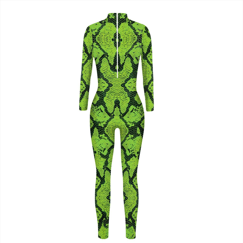 JJEUWE Womens Halloween Costume Cosplay Bodysuit 3D Skinny Stretch Costume