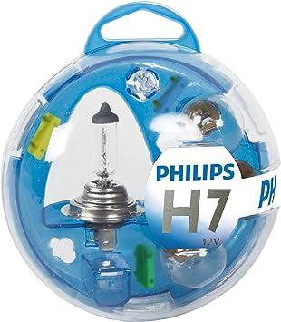 Philips 55717EBKM Essential Box - Caja de bombillas de recambio para coches (H7): Amazon.es: Coche y moto