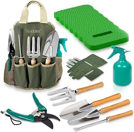 8 Piece Heavy Duty Gardening Tools with Storage Organizer