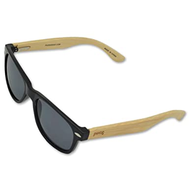 Amazon.com: Pugs Bamboo Sunglasses - Durable Wood Frames, Unique ...