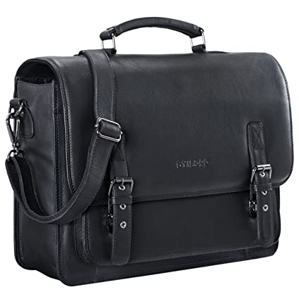 1c53a00367 STILORD  James  Leather Business Briefcase Vintage for Men Women Shoulder  Bag for Laptop 14 Inch Leather Bag for Teacher and Office