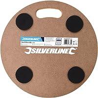 Silverline 739663 Plataforma Redonda con Ruedas Giratorias