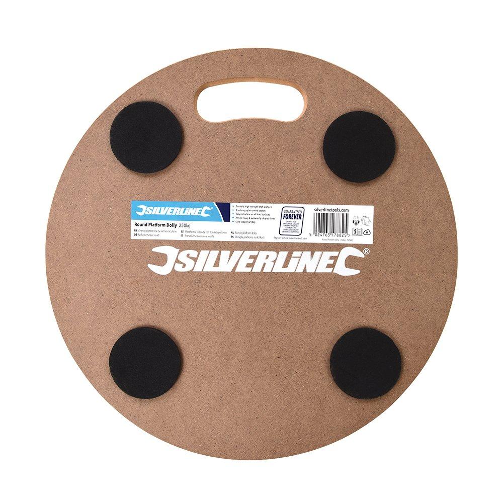 Silverline Tools 739663 Round Platform Dolly  250 kg