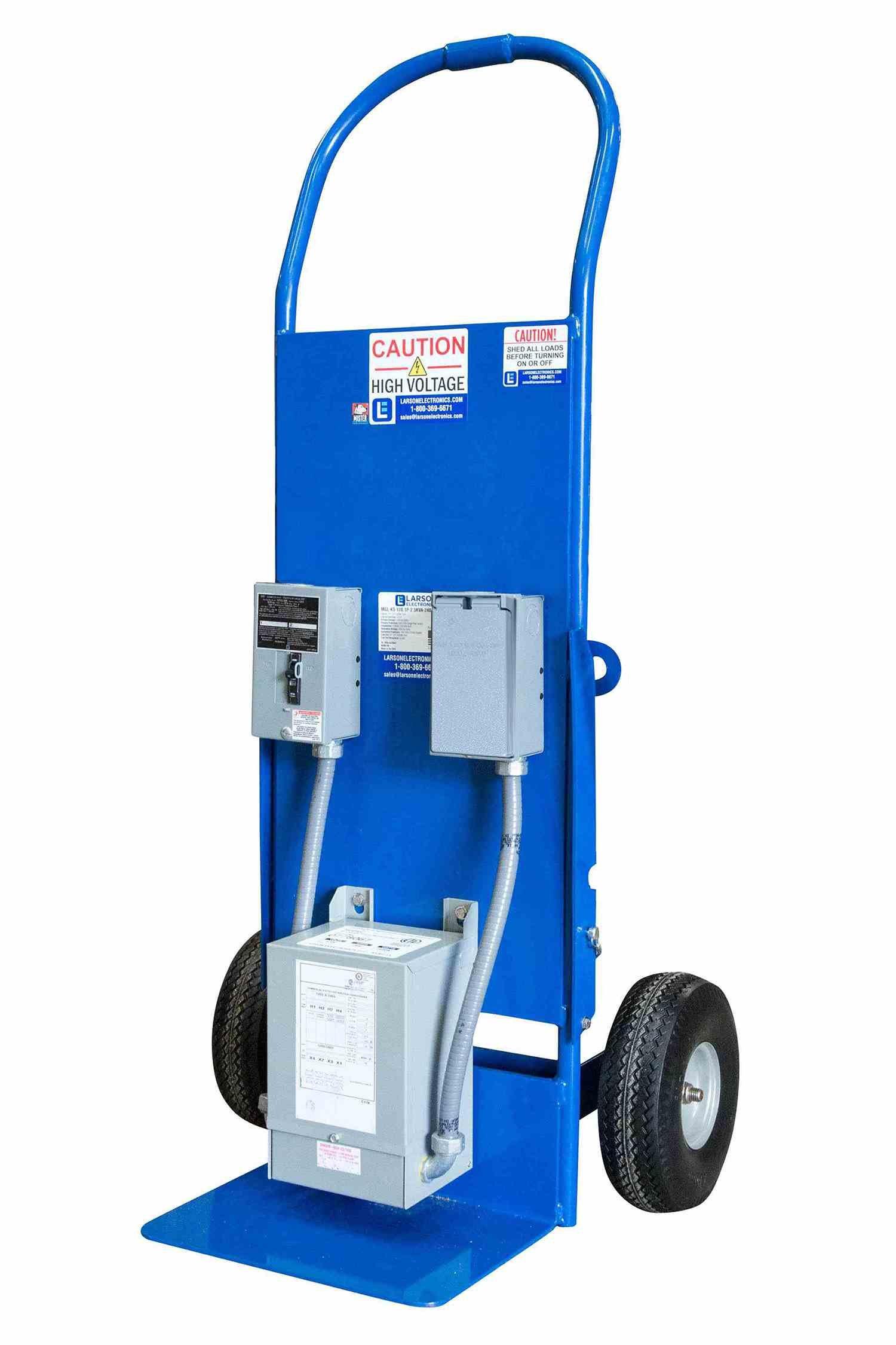 Mobile Power Distribution Center - 208V Delta Primary - 240V Delta Secondary - L15-30 - Dolly Cart