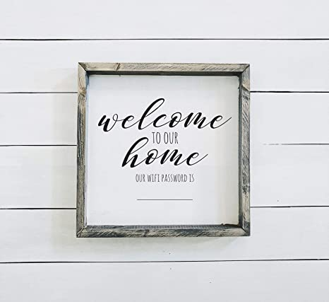 Amazon.com: MaxwellYule Welcome to Our Home - Cartel de ...