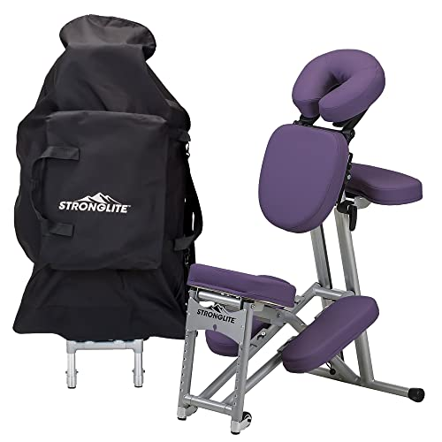 StrongLite Ergo Pro II Portable Massage Chair in Purple color