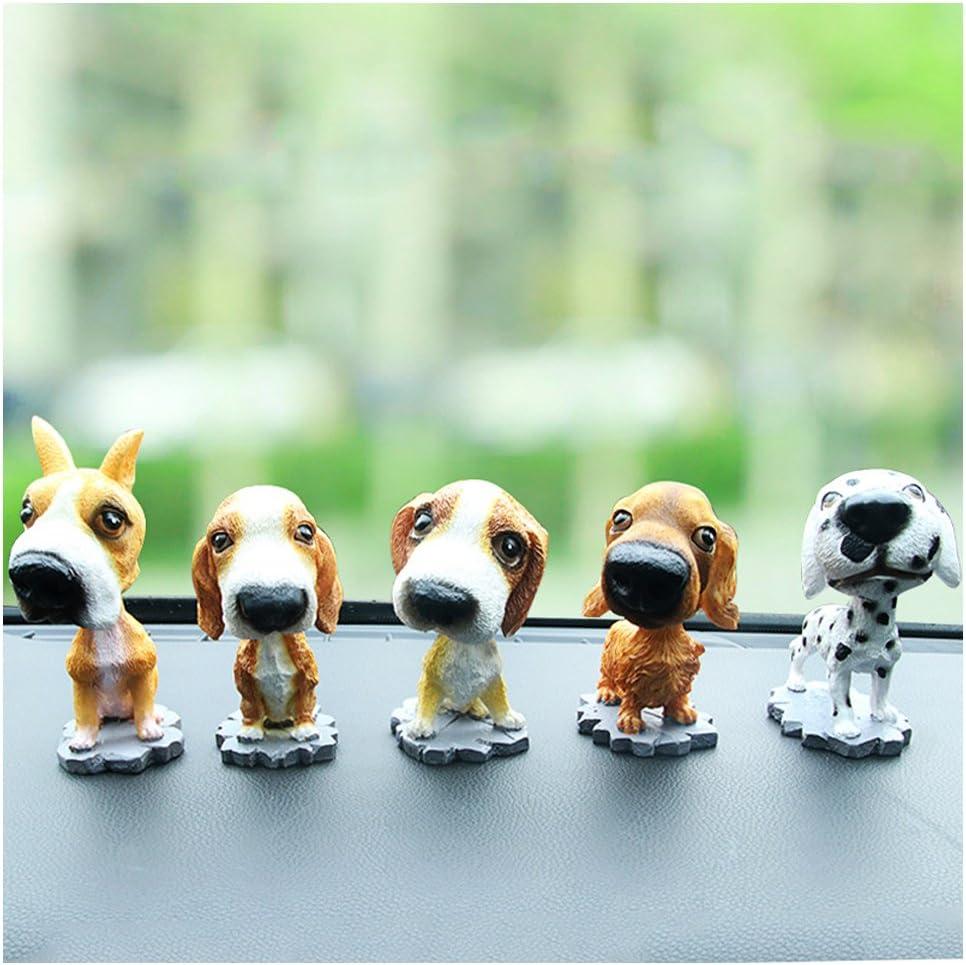 Comidox Bobble Head Dogs Bobbing Heads Car Dash Ornaments Puppy for Car Vehicle decoration (Hound) 1pcs