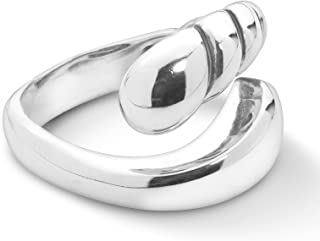 product image for Carolyn Pollack Sterling Silver By-Pass Ring Size 5 to 10