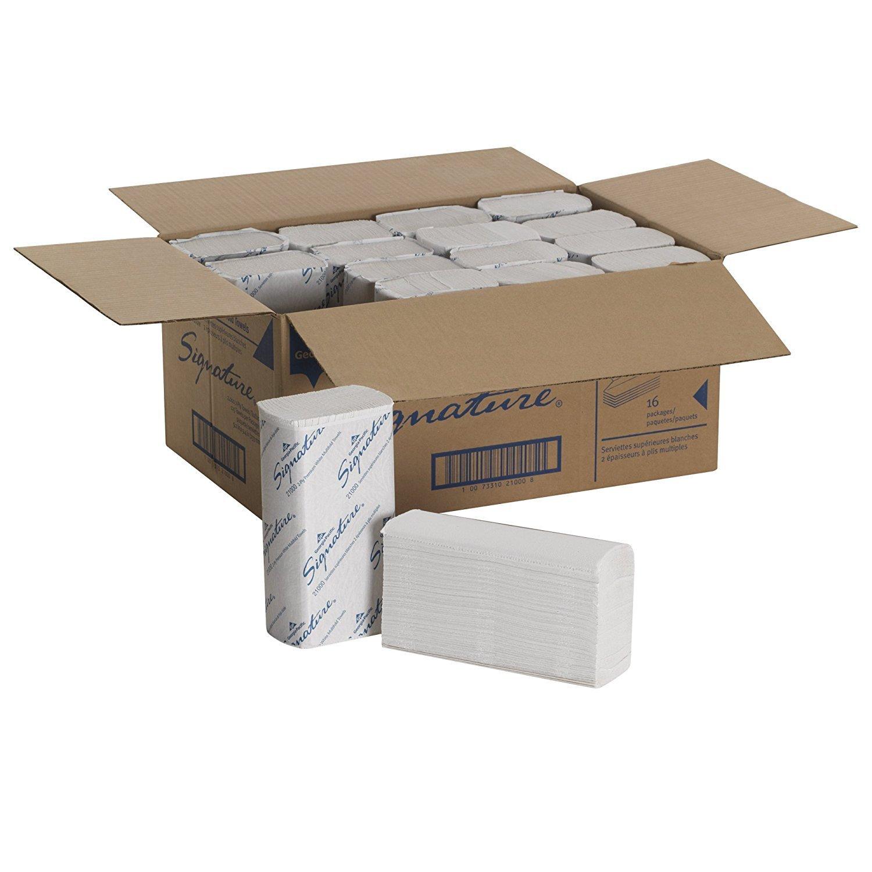 Georgia-Pacific 21000 Signature 2-Ply Premium Multifold Paper Towel, White, (WxL) 9.2'' x 9.4'' (Case of 16 Packs, 125 Towels per Pack) (2 PACK)