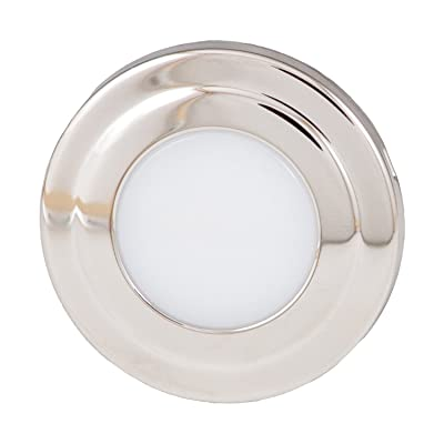 "ITC (69320SS-WB-DB Cool White/Blue 1.75"" Round LED Courtesy Light: Automotive"