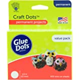 Glue Dots Double-Sided Craft Dots, 1/2'', Clear, Pack of 600