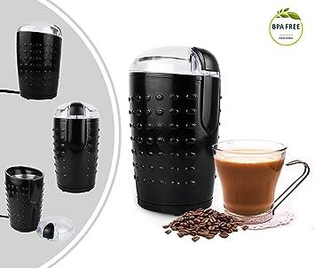 Leogreen - Molinillo de Café Eléctrico, Maquina Molinillo de Café, Negro, Potencia: 150 W, Estándar/Certificación: CE: Amazon.es: Hogar