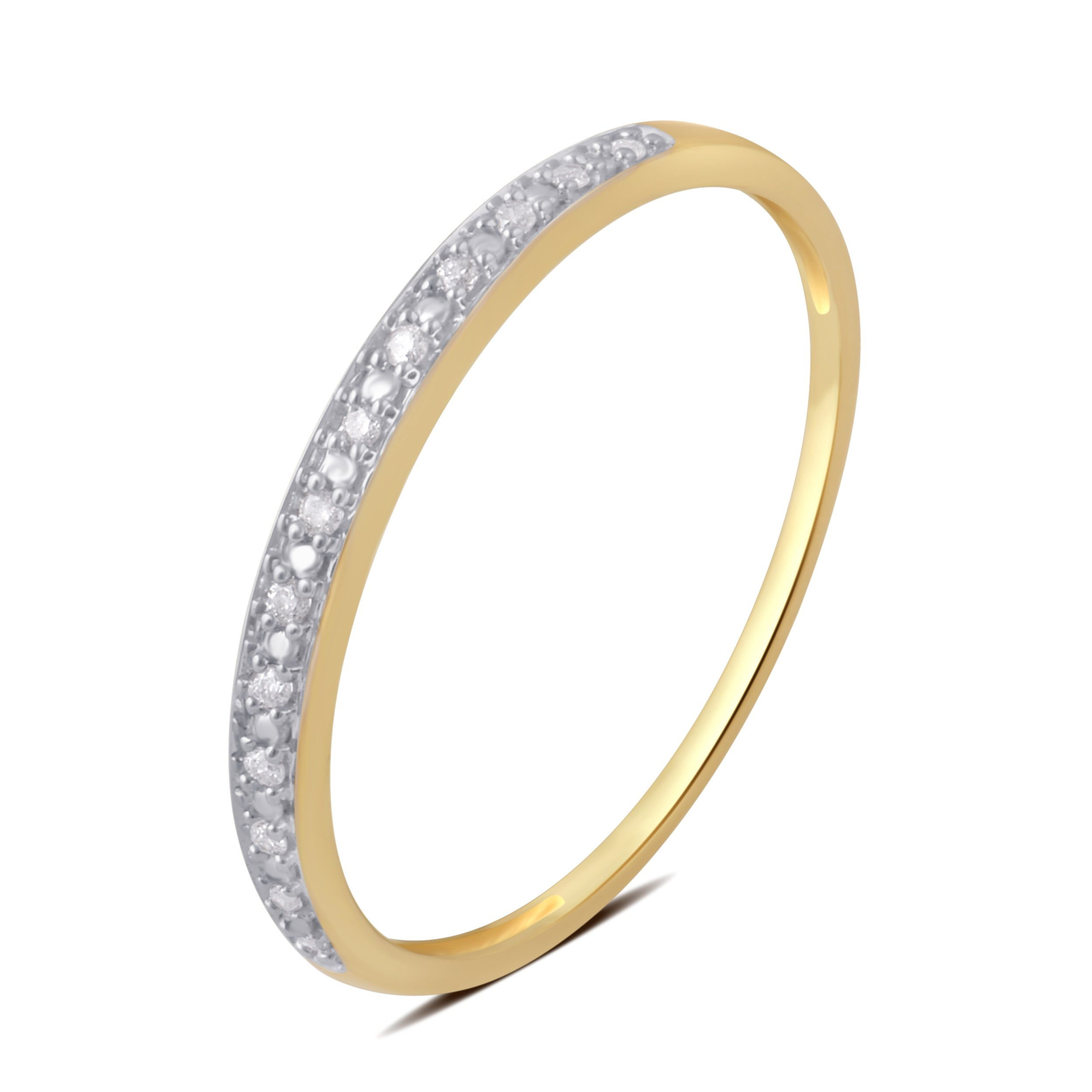 0.05 CTTW Round Diamond Wedding Band in 10K Yellow Gold by Brilliant Diamond (Image #4)