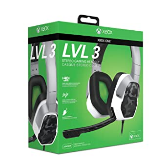 4c67781c321 Amazon.com: PDP Xbox One LVL 3 Stereo Gaming Headset 048-041-NA-WCAM, White  Camo: Video Games