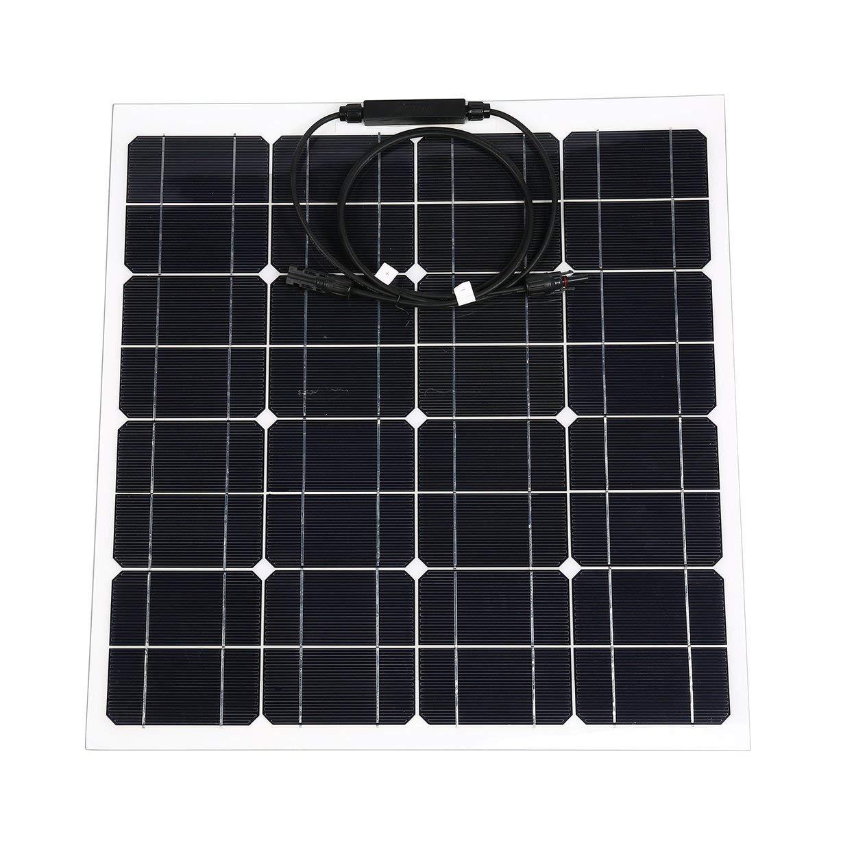 Ironheel 12V 50W Flexible Battery Solar Charger Portable Solar Panel Charger with Clip