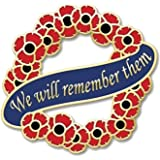 We Will Remember Them Pin Badge