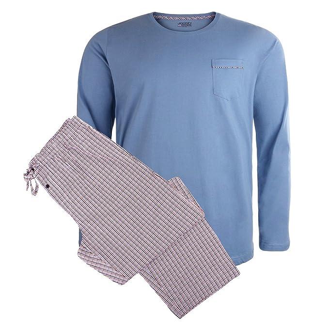 Jockey Pijama Largo XXL Tartán Negro-Rojo-Azul, 2xl-8xl:2XL