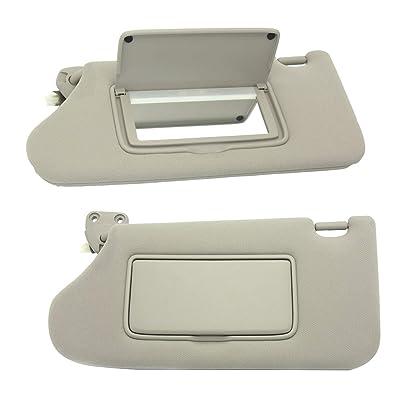 koxuyim Drivers Side Sun Visor for Nissan OEM 964013TA2A - New Left Shade Lighted Mirror for Nissan 13-16 96401-3ta2a 964013TA Sun Visor Assembly: Automotive