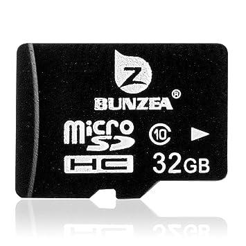 BUNZEA Micro SD HC 32GB Clase 10 TF Tarjeta De Memoria Flash Con Lector de Tarjetas USB